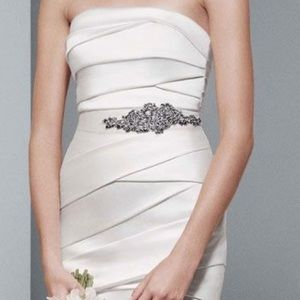 NWT Vera wang crystal bridal wedding sash belt
